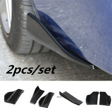 2pc Car Bumper Spoiler Rear Lip Canard Diffuser Anti Scratch Wrap Angle Splitter