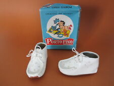 Vintage / Antique Porto Fino Mainville Leather Baby Toddler Shoes Made in Italy