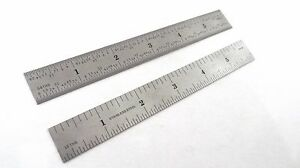 """Taytools  6"""" Machinist Ruler / Rule Scale 4R (1/8, 1/16, 1/32, 1/64) Stainless"""