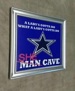 Dallas Cowboys SHE CAVE MAN CAVE Framed 8x10 Photo