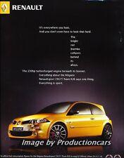 2007 Renault Megane Sport 230 FI  Original Advertisement Print Art Car Ad J725