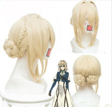 Violet Evergarden Auto Memory Doll Cosplay Party Braid Hair Wig Wig Anime Gold