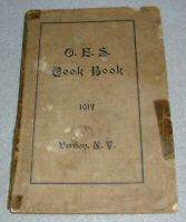 Antique Cook Book New York NY Women's Masonic Order of the Eastern Star OES 1917