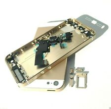 For iPhone 5 5G Back Housing Battery Cover Metal Rear Door Gold + Charging Port