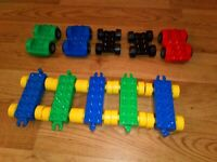 10 LEGO DUPLO TRAIN & VEHICLE BASES NICE CONDITION CAR BASE ASSORTED COLOURS