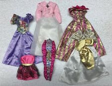 "Vtg Barbie 90""s LUCKY Brand & Mattel Doll Clothes 6 Party Dresses"