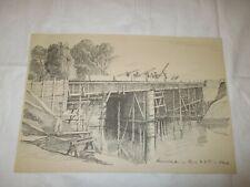 um 1939 Organisation Todt - Bau Kanalbrücke im Elsaß erbaut von O.T.  BAUMEISTER