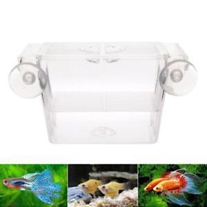 1 Pc Fish Tank Guppy Breeding Breeder Trap Box Nursery Hatchery Supplies New FI