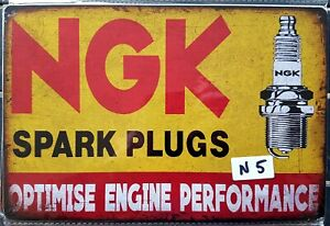 NGK Spark Plugs Metal Tin Signs Bar Shed & Man Cave Signs AU Seller