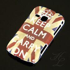 Samsung Galaxy Mini 2/s6500 Hard Case Cellulare Astuccio Keep Calm Carry On