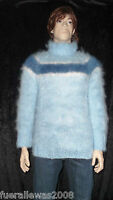 handgestrickt Pullover Langhaar Mohair  exclusiv L~XXL hand knitted UNISEX