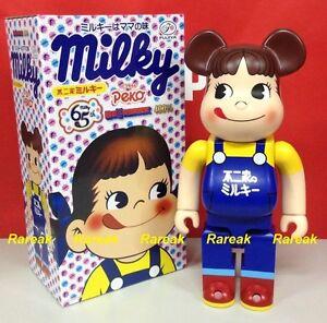 Medicom Be@rbrick 2016 Fujiya Peko Milky 400% 65th Anniversary Candy Bearbrick