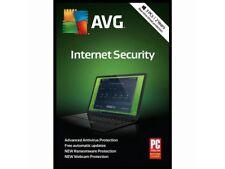AVG Internet Security 2018 3 PCs, 2 Year Keycard~Brand New!