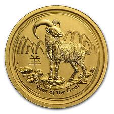2015 Australia 1/4 oz Gold Lunar Goat BU - SKU #84438