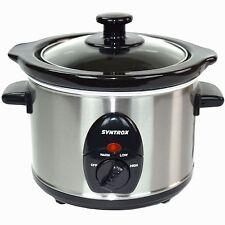 1,5 Liter Edelstahl Slow Cooker mit Warmhaltefunktion