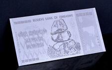 "★★ ZIMBABWE : BILLET POLYMER  "" ARGENT "" DU 100 000 000 000 000 DOLLARS  ★"
