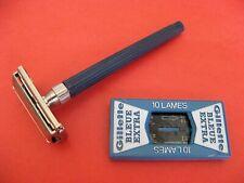 Rasoir GILLETTE SLIM TWIST code A1 ( 1980 ) + lames Gillette made in England
