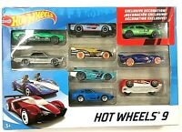 Hot Wheels 9 Car Gift Pack with Exclusive Car NEW