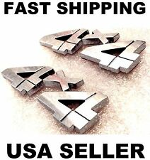 x2 Chrome 4 X 4 EMBLEM 3D car MITSUBISHI SUZUKI SCION 4X4 logo fuso decal BADGE