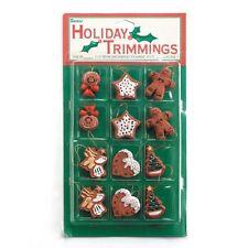 "12 Assorted 1"" Gingerbread Christmas Mini Tee Ornament Set"