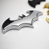 1PC Chrome Metal Badge Emblem Batman 3D Tail Decals Auto Car Logo Sticker Silver