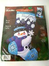 "Bucilla Let It Snow 18"" Felt Stocking Kit By Sandy Garbrandt"
