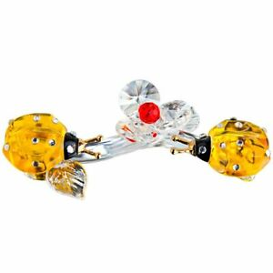 Crystal Animal Flower Ladybug Figurine Glass Ornament Gift Craft Home Decoration