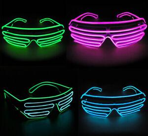 EL Wire Neon LED Light Sunglasses Eyewear Shade Nightclub Halloween Rave Party S