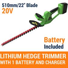 """20V Cordless Hedge Trimmer Lithium-Ion Electric Garden Tool 22""""/510MM,W/Battery"""