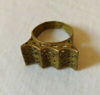 ANCIENT VINTAGE ROMAN LEGIONARY RING BRONZE VERY OLD ARTIFACT EXTREMELY RARE