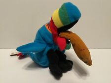 Meanies Beanie Babies Hurley The Toucan New With Tags Plush Series 1