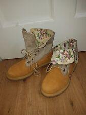 Timberland  8262B Canvas  Fold Down Boots Size 6UK