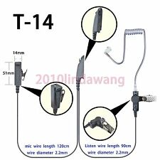 2-wire Surveillance Earpiece mic For Motorola HT750 HT1250 HT1550 Portable Radio