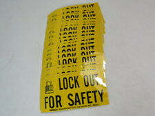 """Brady 88303 Lock Out Safety Sign 2.25""""Hx4.5""""WX.006""""D Lot of 23 ! NOP !"""