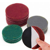 5/10PCS 4'' 5'' 6'' Scotch Brite Scouring Pad Hook & Loop Abrasive Cleaning Pad