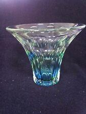 Brierley Stourbridge Stevens Williams Crystal Vase rare slice cut rainbow vase