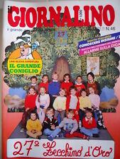 GIORNALINO n°46 1984 Poster Falcao - Marlene Charell - Zecchino d'Oro [G261]