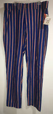 New Softball Baseball Pants Adult Men's Size XL Blue Orange Striped Worth $59 E3