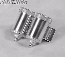 """An -4 (AN4 4AN 7/16"""" x 20) Double en Aluminium Frein/Embrayage Fluide Réservoir Pot"""
