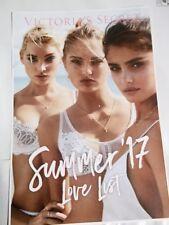 "2017 Victorias Secret postcard Martha Hunt & Elsa Hosk 5 1/2"" X 8"" LOVE & LUST"