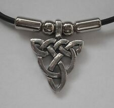 Choker #1389 CELTIC TRIANGLE DROP (27mm x 20mm) Rubber Necklace PENDANT