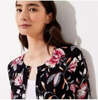 Loft NWT Size XS Garden Signature Floral Print Cardigan Sweater MSRP $59.50