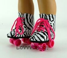"Zebra Roller Skates for 18"" American Girl Doll Shoes Clothes Best Selection!"