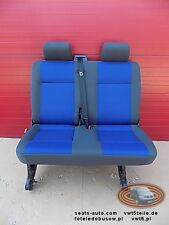 VW T5 Seat rear bench double Transporter blue anthracite blau Sitzbank set