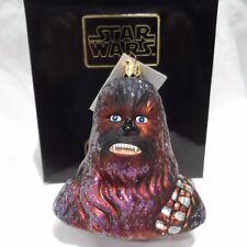 """Radko 1998 """"CHEWBACCA"""" RARE """"Star Wars"""" Wookie Warrior Ornament NEW w/Tag & Box"""