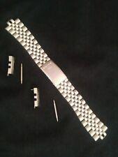 Genuine. SEIKO SQ Jubilee 20mm SOLID Steel Silver Tone. Bracelet  BAND.