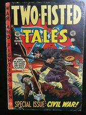 Two-Fisted Tales #35 GD/VG Special Civil War Issue EC Comics Golden Age 1953