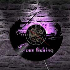 Fishing Wall Clock Modern Design Retro LED Watch 7 Colors Wall Clocks Home Decor