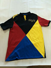 COOGI EMBROIDERED GOLD EPAULETTES 2 SIDED SHORT SLEEVE POLO SHIRT MEN'S SIZE XXL
