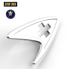 SL4 Star Trek Logo medic Metal Pin brooch Silver color Collectible gift cosplay